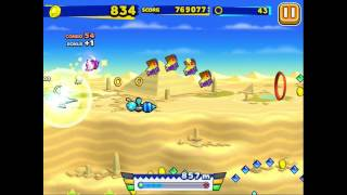 Sonic Runners (iOS): Special Stage (Desert Ruins) Gameplay