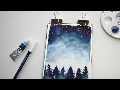 Go Out and See the Stars // Watercolor Painting