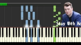 Sam Smith - Stay With Me - Piano Tutorial
