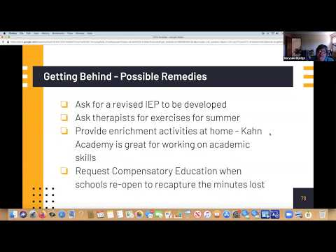 Webinar 5: My Student is Falling Further Behind - What Do I Do for Special Education IEPs?