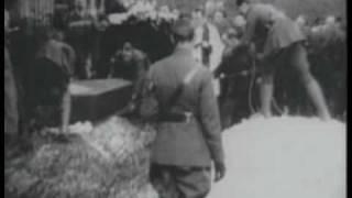 video original del funeral del baron rojo, Manfred von Richthofen