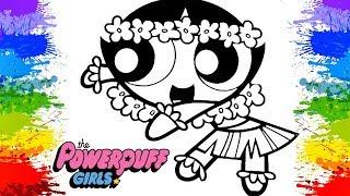 Desenhos para colorir AS MENINAS SUPER PODEROSAS Docinho flores para criancas Video infantil