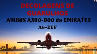 Pouso do Airbus A380 da Emirates no Aeroporto de Guarulhos - 2017-04-28