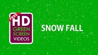 snow fall green screen video