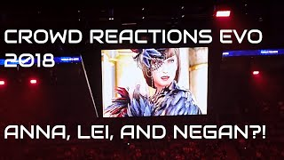 Crowd Reactions Tekken 7 Season 2 Anna, Lei, and Negan from Walking Dead EVO 2018