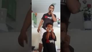 Pai e  filho o cantor