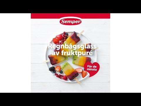 Regnbågsglass av fruktpuré