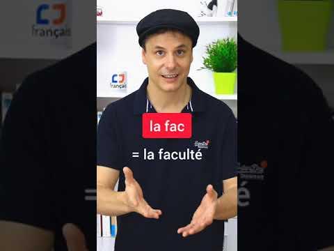 Mots coupés en français - Troncations en français #Shorts