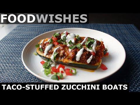 Taco Stuffed Zucchini Boats ? Food Wishes