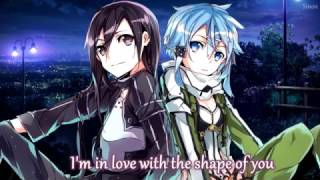 Nightcore - Shape of You (Switching Vocals) - (Lyrics)