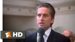 Wall Street (4/5) Movie CLIP - Greed Is Good (1987) HD