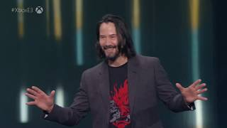 Cyberpunk 2077 Keanu Reeves at E3 2019 Xbox Conference
