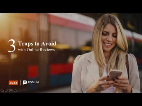 Duda & Podium Present: 3 Traps to Avoid with Online Reviews