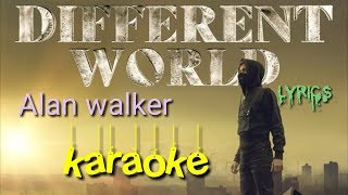 Alan walker different world karaoke instrumental with lyrics sofia carson k 391 & corsak