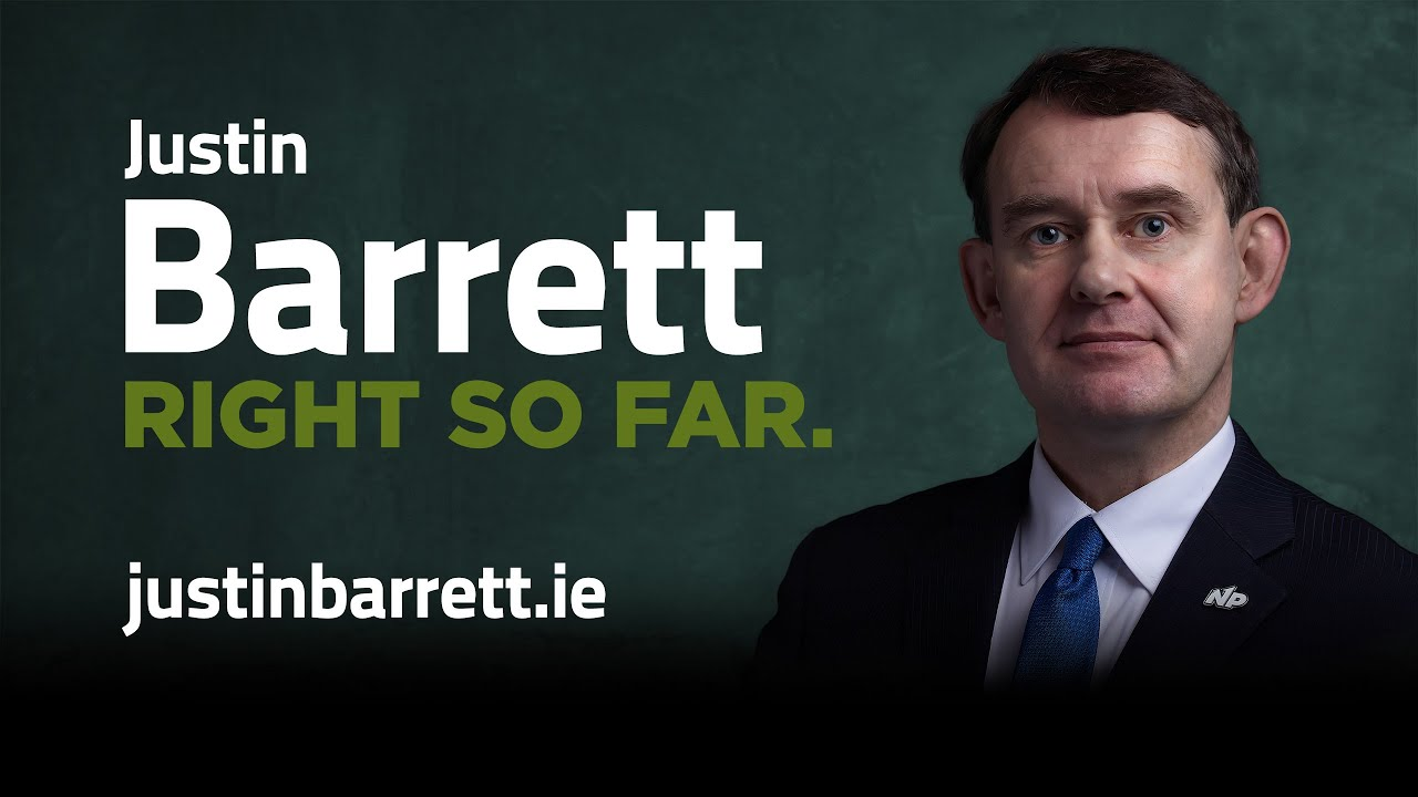 Justin Barrett – Announces he will Stand in Dublin Bay South Bye-Election, July 8