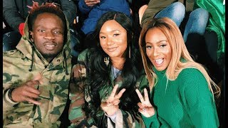 Dj Cuppy Takes Her Boyfriend Mr Eazy And Temi Otedola To Watch Nigeria Vs Serbia Match In London