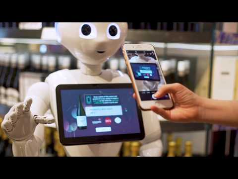 Meet Pepper - Your Wine Sommelier Robot at DFS