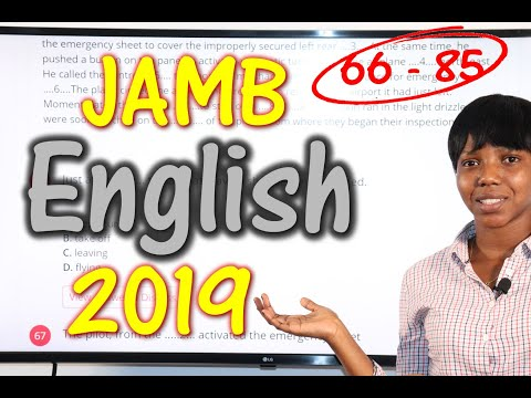 JAMB CBT English 2019 Past Questions 66 - 85