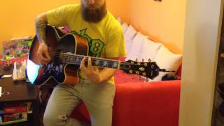 High voltage acoustic guitar Rock AC/DC cover