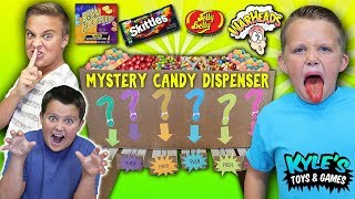Mystery Candy Dispenser! Funny Cardboard Vending Machine Joke!