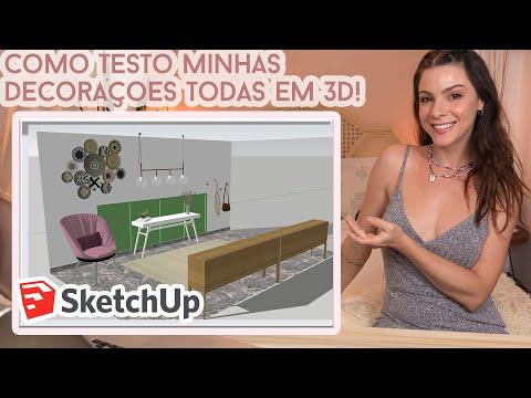 Como planejar decorações em 3D usando Google Sketchup! o The Sims da minha Vidaa!! Introdução fa