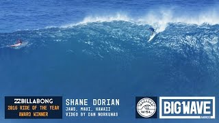 Shane Dorian at Jaws - 2016 Billabong Ride of the Year Winner - WSL Big Wave Awards