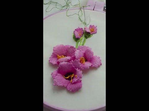 gladiolus flower malina gm tutorial embroidery #shorts