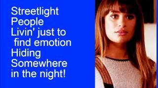 Glee Don't Stop Believin' (Rachel) with lyrics