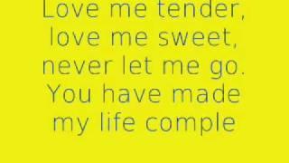 Love Me Tender - Elvis Presley - Lyrics Video