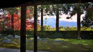Zen gardens in Kyoto Japan 2 (meditation music relax)