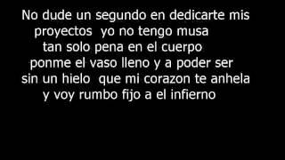 Rumbo fijo al infierno Nikone(letra lyrics)