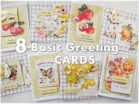 8 Basic Simple Easy Greeting Cards ♡ Maremi's Small Art ♡