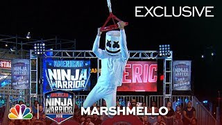 Marshmello Runs Stage 1 at the Las Vegas National Finals - American Ninja Warrior 2018 (Exclusive)