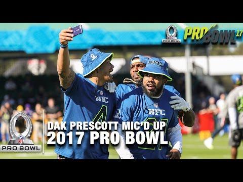 Dak Prescott Mic'd Up at the 2017 Pro Bowl Practice | NFL