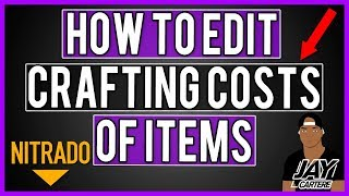 How to edit crafting costs of items on your nitrado server