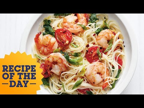 Pasta with Shrimp and Greens | Food Network