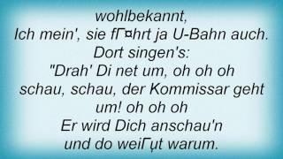 Falco - Der Kommissar Lyrics