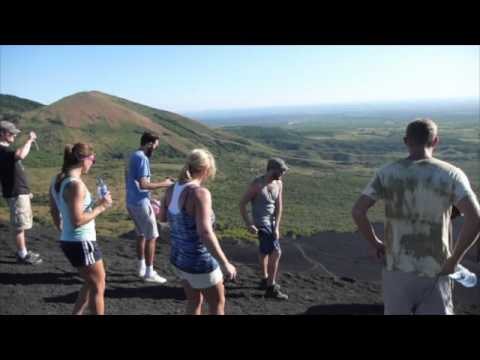 Volcano Boarding at the Cerro Negro Volcano