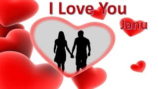 I Love You Janu - Love Whatsapp Status Video