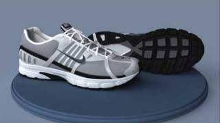 Realistic 3d cg  model of a Nike sport shoes