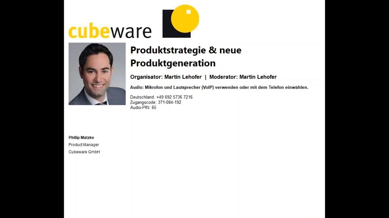 Cubeware Produktstrategie neue Produktgeneration