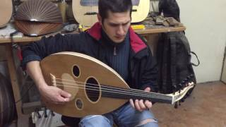 Iraqi tuning arabic oud birdseye maple ILIAS playing