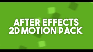 After Effects 2D Animation Pack // TypeNetik