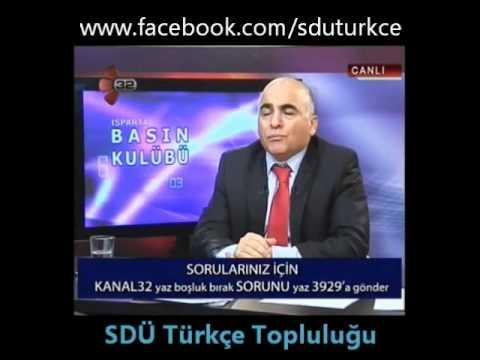 SDÜ Rektörü Prof.Dr. Hasan İBİCİOĞLU'nun Türkçe Topluluğu hakkındaki görüşleri