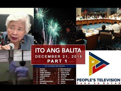 UNTV: Ito Ang Balita (December 21, 2018) PART 1