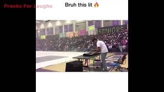 """LIT """"STILL DRE"""" PIANO HIGH SCHOOL RALLY!   Hilarious Still D R E Blacklight High School Rally"""