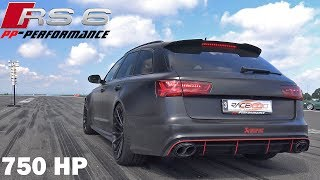 750 HP Audi RS6 4.0 TFSI V8 Quattro PP Performance 1/2 Mile Drag Race