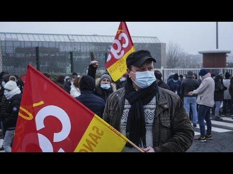 Protestas contra la farmacéutica Sanofi por su intención de despedir a 400 empleados