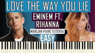 How To Play: Eminem ft. Rihanna - Love The Way You Lie | Piano Tutorial EASY