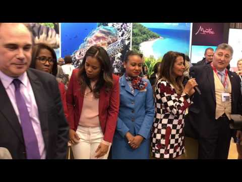 Air Seychelles celebrated Duesseldorf-Seychelles non stop at ITB